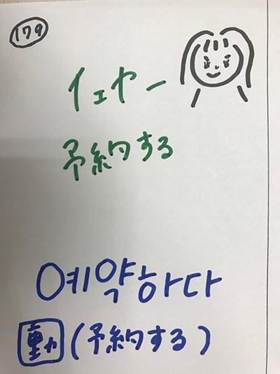 예약하다:予約する(インパクト単語帳)
