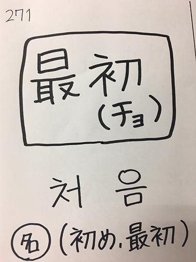 처음:初め・最初(インパクト単語帳)