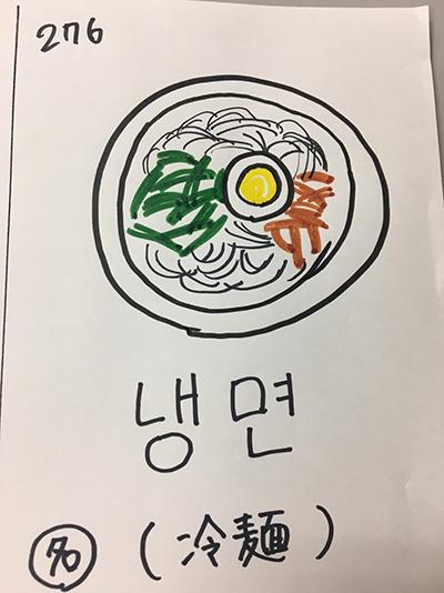냉면:冷麺(インパクト単語帳)