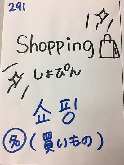 쇼핑:買い物・ショッピング(インパクト単語帳)