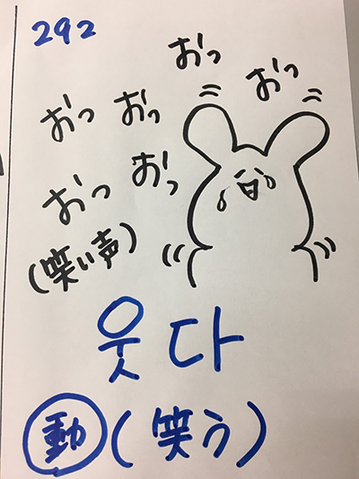웃다:笑う(インパクト単語帳)