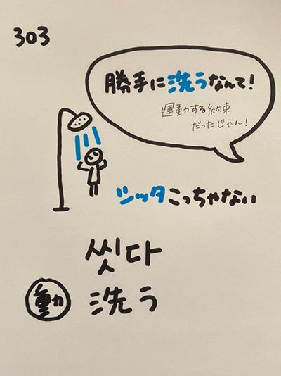 씻다:洗う(インパクト単語帳)