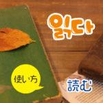 22韓国語動詞_読む읽다